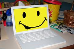 Smirking MacBook