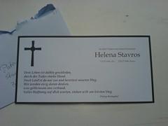 Eine Trauerkarte von Helena Stavros
