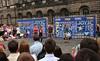 Festival Fringe performers on Edinburgh's Royal Mile
