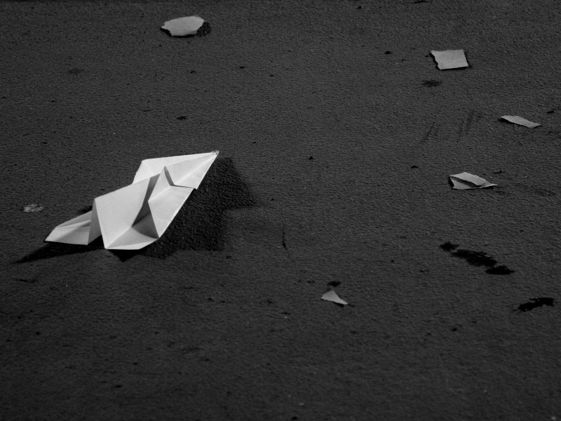 Paper Airplane Wreckage