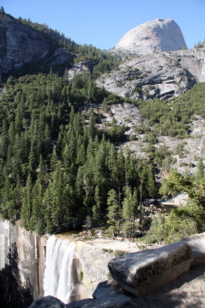 Half Dome and Vernal Falls