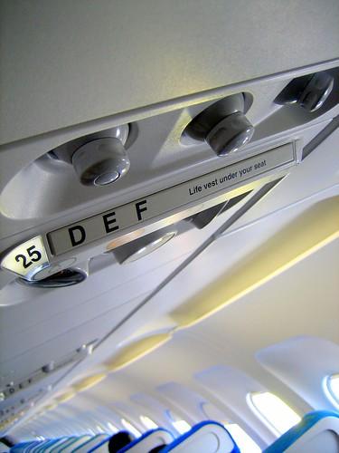 25 D  E  F          Life vest under your seat