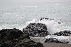 breaking wave, rock