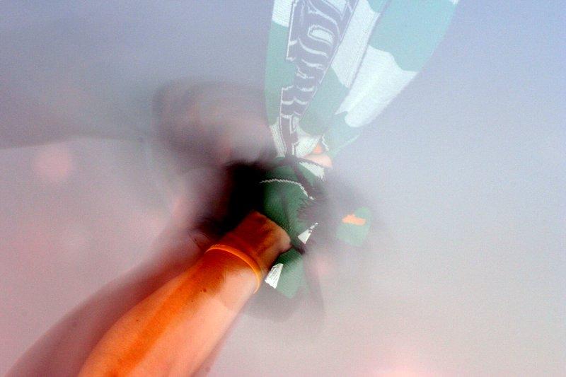 Timber's fan waving a scarf - Portland