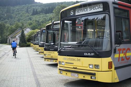 Bussen en fietser
