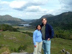 Monica and I at the Ladies' View on the Ring of Kerry