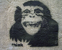 Monkey Think Graffitti art
