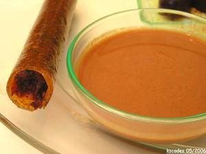 Le finger de gaspacho semi pris au piment d Espelette