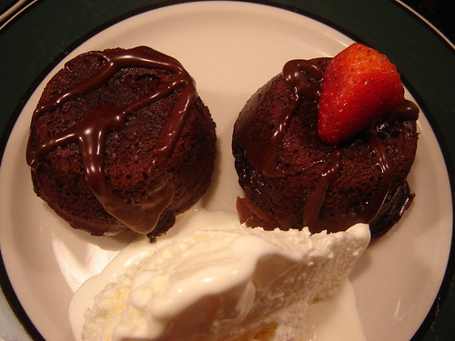 Mini Fudge Lava Cakes
