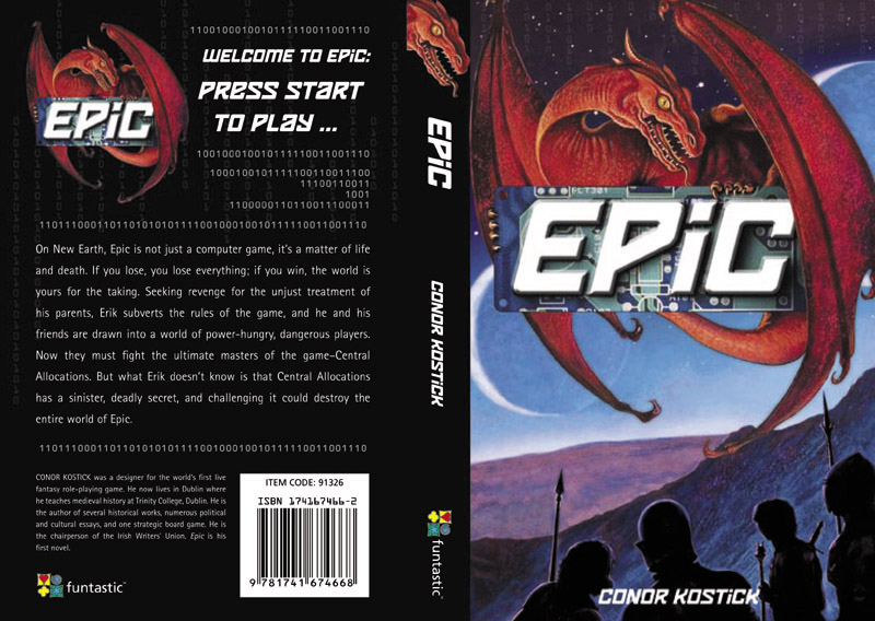The Australian cover of Epic by Conor Kostick