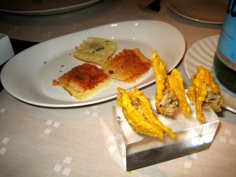 Arzak - Cheese & Roe Crisp