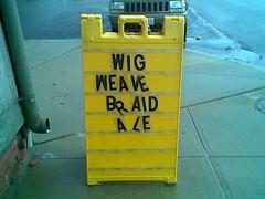 WIG WEAVE BRAID ALE