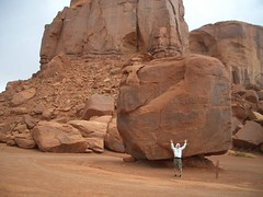 Huge rock and me
