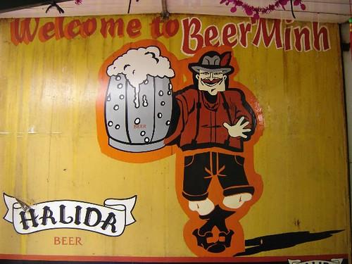 Beer Minh signage