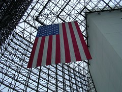 Flag at the JFK Library