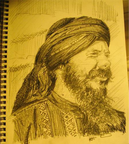 Jathedar on Flickr drew this of me.