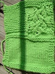 Pea Pod sweater swatch