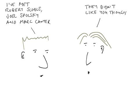I've met Robert Scoble cartoon
