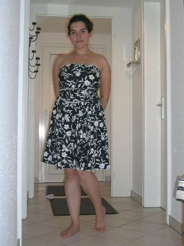 Black & white convertible dress