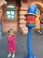 On the phone in Toontown