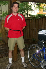 Andrew's spiffy new biking outfit