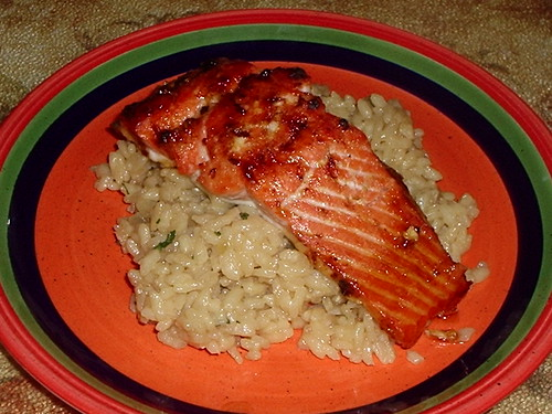 Honey Ginger Salmon w/Risotto