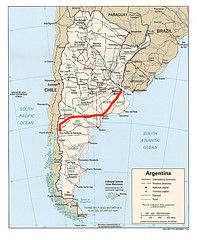 argentina map route
