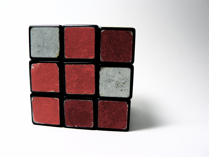 Worn Out, Used Rubic's Cube