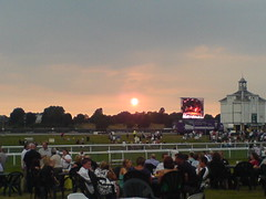 Sunset at the races