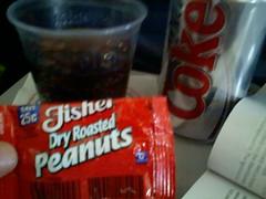 Peanuts on a plane