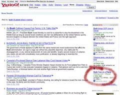 screenshot of Deanish article on Yahoo! News