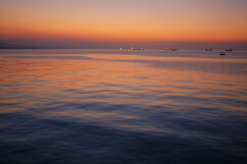 the sea before sunrise