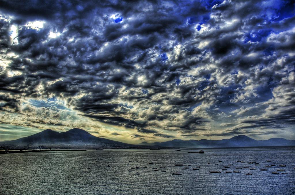 Morning Rainstorm Over Vesuvius and Pompeii