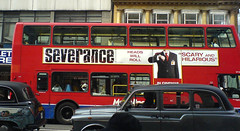 Severance bus poster