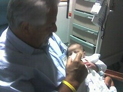 Baba Feeds Theo