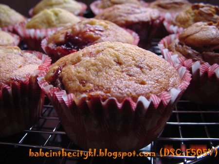 strawberry jam cupcake