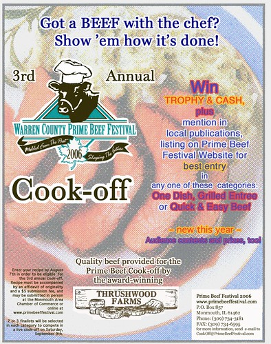 Poster: 2006 Prime Beef Festival Cook-off