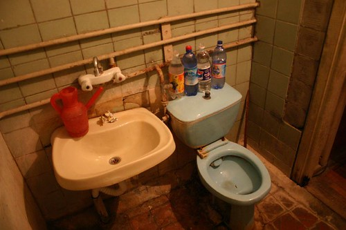 This is what you get for 10 USD at the USSR-era Kapaz Hotel in Ganca, Azerbaijan! No running water (of course)