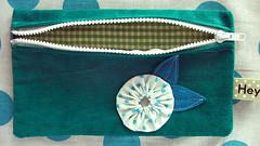 jade flower yo-yo pouch
