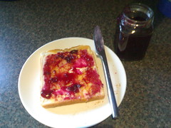 Blueberry Jam on Toast
