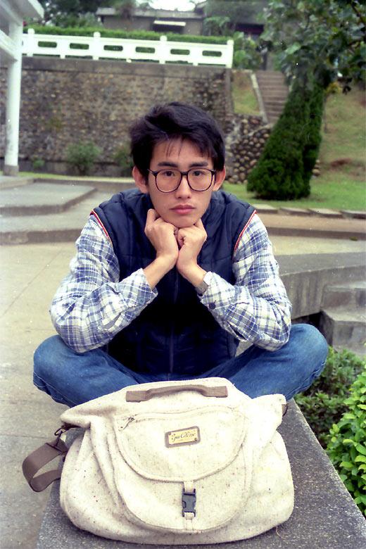 roxytom at school, Jan 1988