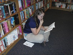 Reading in the bookstore