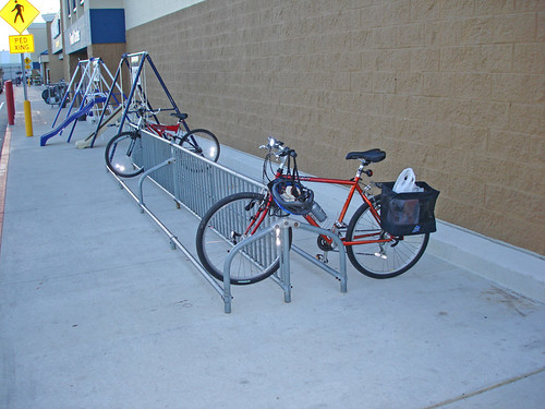 Wal Mart Has a Bike Rack!