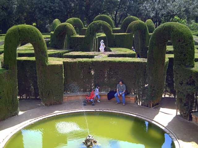 Parc del Laberint or Laberynth Park in Horta, Barcelona