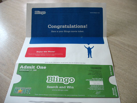 Blingo Movie Ticket