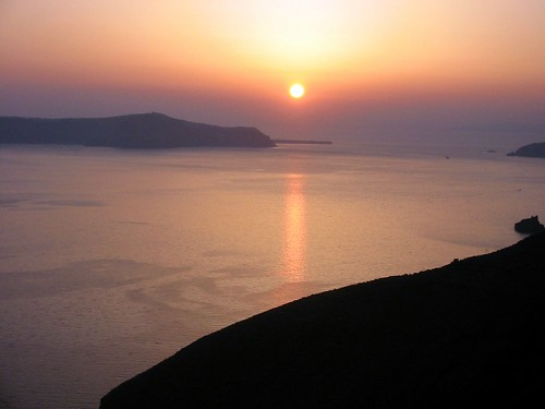 Sunset over the caldera, Santorini