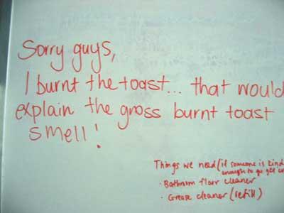 Burnt toast AGAIN!