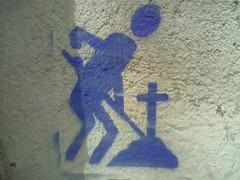 Stencil enterrador
