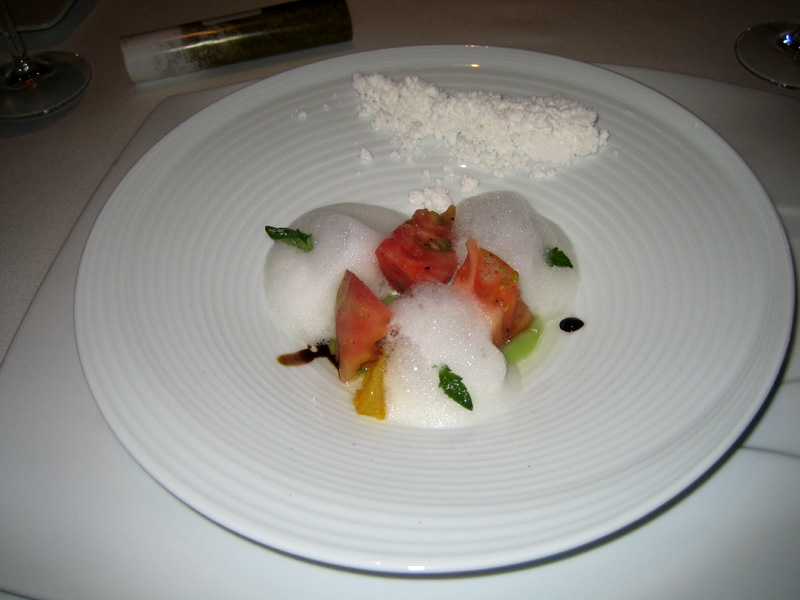 El Bulli - Different Textures of Almond w/ Tomato