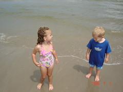 Lola and Ryan on beach